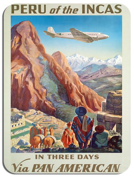 Vintage Peru Travel Mouse Mat. High Quality Tourism Machu Picchu Andes Mouse Pad