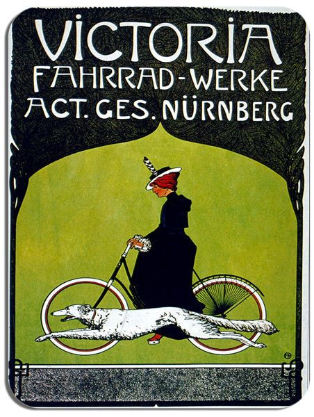 Vintage Victoria German Bicycle Advert Mouse Mat. Bicycle Bike Cycling Mouse pad