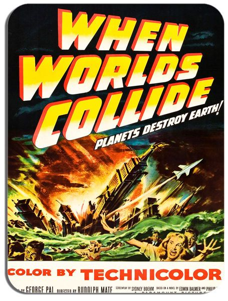 When Worlds Collide Mouse Mat. High Quality Classic Sci Fi Film Poster Mouse pad