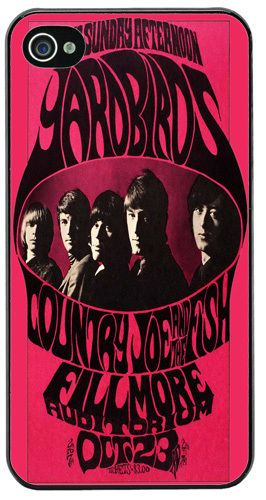 Yardbirds Country Joe & The Fish Vintage Poster HD Cover/Case Fits iPhone 4/4S