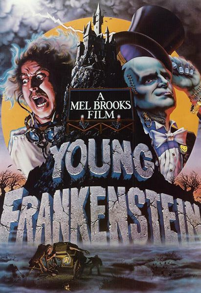 Young Frankenstein Vintage Movie Poster T-Shirt Gents, Ladies & Kids Sizes