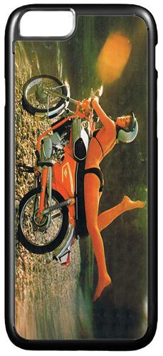 Zundapp Girl Motorcycle Ad Cover/Case For iPhone 7/7S. Classic Motorbike Gift